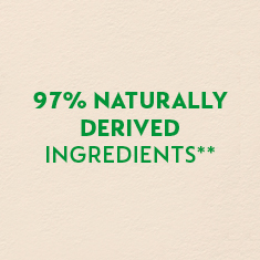 97% naturally derived ingredients